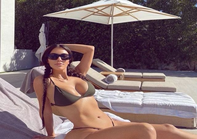 Kim Kardashian Puts Her Curves On Display amid Divorce With West