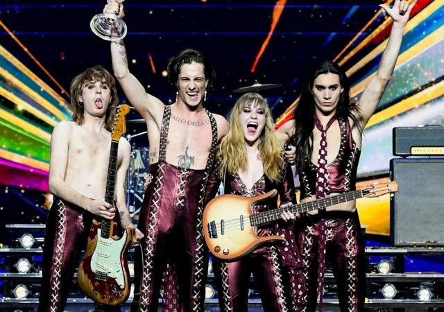 Italy's raucous glam rock takes Eurovision by storm